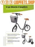 Q-go Mezcla 2 Loopfiets antraciet