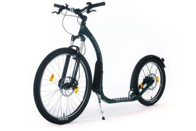Kickbike Cross Max HD20+ hondenstep Racing groen