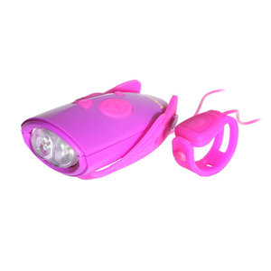 Fietsverlichting Met Geluid Paars/Roze